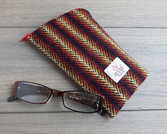 26a50cd630da Harris Tweed glasses case wool spectacles case soft