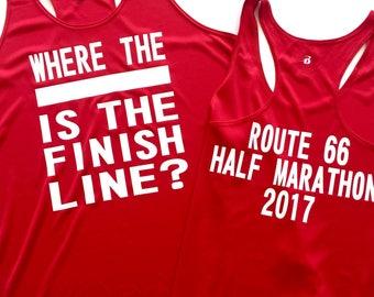 Design your own athletic tank top, Ladies running singlet, Customized tank tops, team running tank tops, Half Marathon tank top