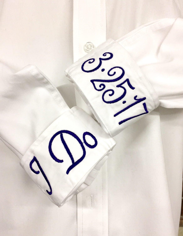 Wedding Embroidered Dress Shirts Oversized Wedding Day Shirts