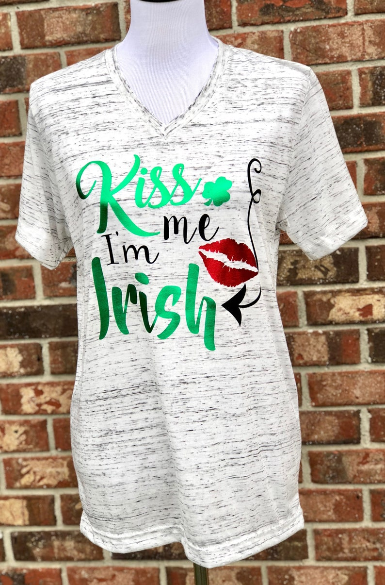 9eb5b29f Kiss me I'm Irish tee shirts St. Patrick's Day | Etsy