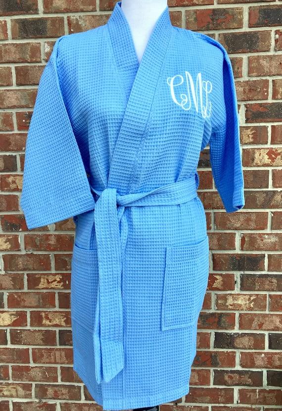 5aaa310f72 Personalized waffle bathrobe Circle Monogrammed waffle robes