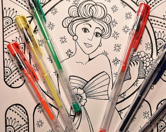 Printable Coloring Page -  Coloring Pages - The Goddess Calliope INSTANT DOWNLOAD