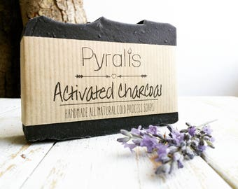 PRE ORDER - Activated Charcoal Soap, Charcoal Soap, Organic Soap, Detox soap, Acne Soap, Tea Tree Soap, Lavender Soap, Cold Process Soap