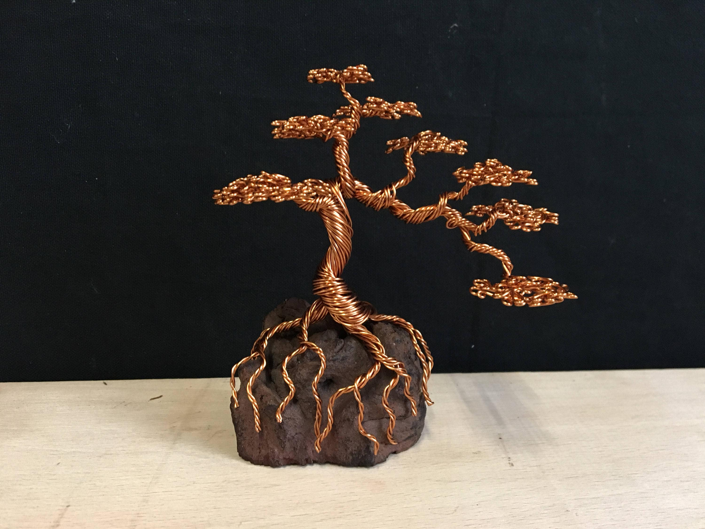Informal Cascaded Bonsai Wire Sculpture Etsy Wiring Branches Zoom