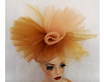 Gold Hat Red hat Fascinator gold Red bespoke Formal Hats  5b571cd0836