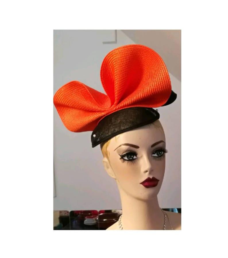 49d5ed934bbea Orange Hat for Wedding Unusual Hats for Races Orange Hat for