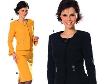 suit Size Eur 44-54 US 18-28 2014 Burda Pattern Offenburg Germany 6862 skirt and jacket