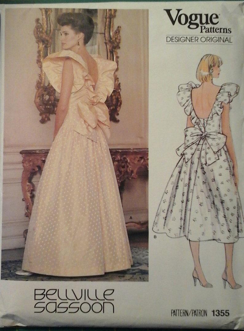 8a2c4d905fd702 Robe de soirée des années 1980 vogue Designer Original 1355 Belleville  Sassoon, taille 12