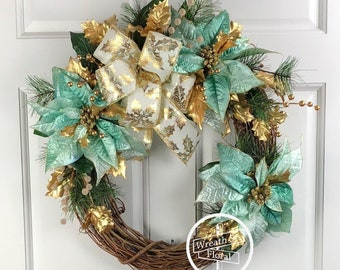 Christmas Door Decor Holiday Wreath Christmas Wreath Etsy