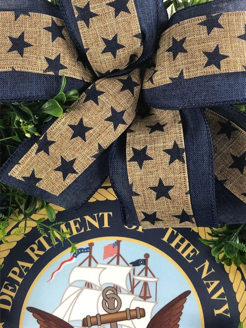 Patriotic Wreath 4th of July Wreath Front Door Wreath U.S Memorial Day Wreath Grapevine Wreath Military Wreath Navy Wreath