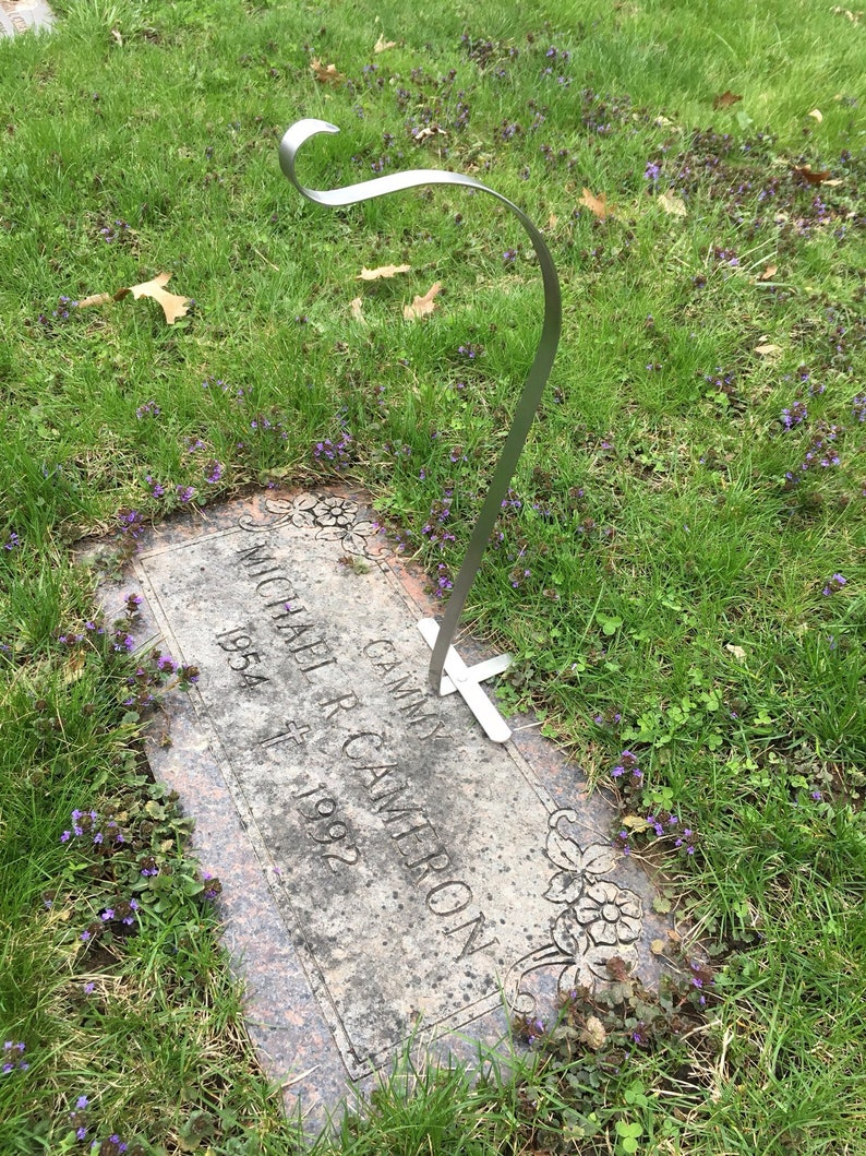 Cemetery Wreath Hanger Ground Stone Wreath Hanger Gravesite image 0
