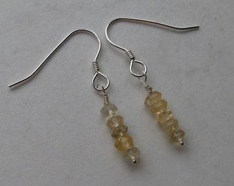 Citrine, Sterling Silver, November birthday, November birthstone, Citrine jewellery, sterling silver earrings, gift for women, drop earrings