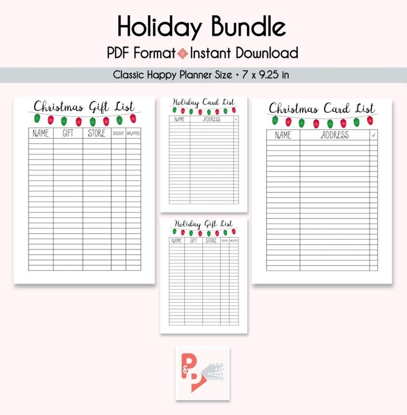 picture regarding Happy Planner Printable Inserts called Family vacation Record Offer Joyful Planner Printable Inserts, Build 365, Pleased Planner Clic Add, MAMBI Planner, Fast Obtain