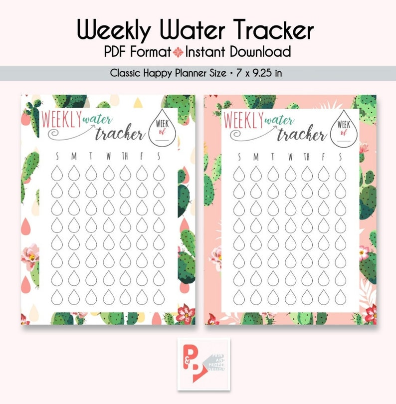 image relating to Water Tracker Printable known as WEEKLY Drinking water TRACKER Satisfied Planner Printable Inserts, Produce 365, Satisfied Planner Include, Delighted Planner Clic, Immediate Down load, Mambi
