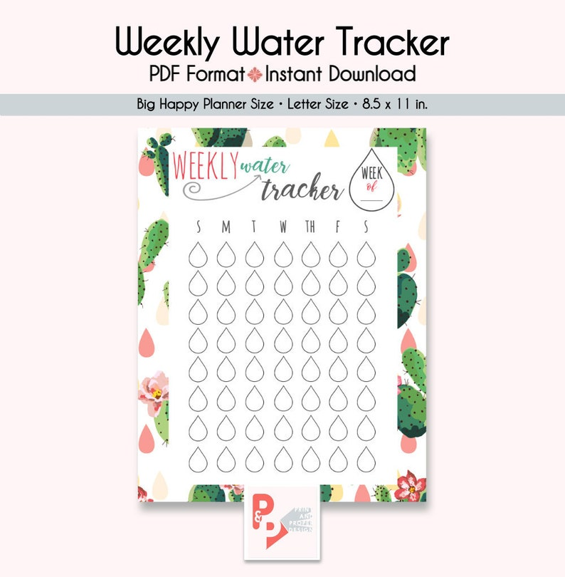 photo about Printable Water Tracker named WEEKLY Drinking water TRACKER Substantial Delighted Planner Printable Incorporate, Build 365, Delighted Planner Include, Delighted Planner Major, Prompt Down load