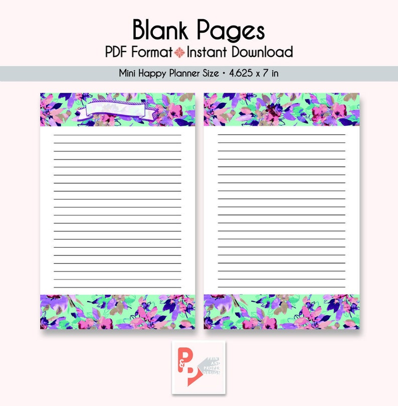 photo relating to Happy Planner Printable Inserts identify BLANK Internet pages Mini Satisfied Planner Printable InsertS, Build 365, Joyful Planner Incorporate, Pleased Planner Mini, MAMBI Planner, Fast Down load