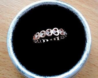 Rose Gold Wedding band Gold Wedding ring Stackable band Rose gold band Rose gold ring Stacking Promise ring Heart ring Engagement ring gifts