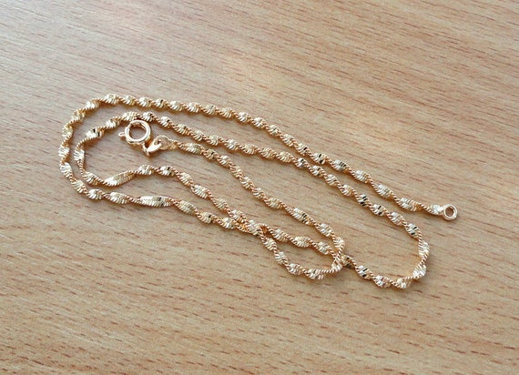 Gold Chain Necklace Gold Jewelry For Men Birthday Gift For Her Etsy