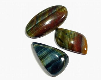 High quality blue tiger eye cabochon 3 pcs 10.2 gm GM 078