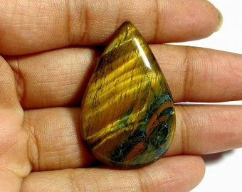 High quality blue tiger eye cabochon 1 piece 8.7 gm GM 076