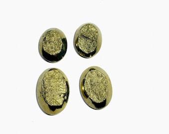 high quality pyrite druzy cabochon  36 gm 4 pcs  GM 626