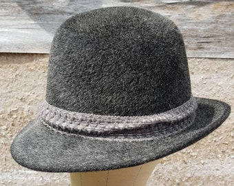 b2953af813f Bavarian Beau Vintage German Traditional Bavarian Hat Authentic Mohair Wool  57.5 cm Mens Gray Alpine Hat Oktoberfest Hat Shipping Inc