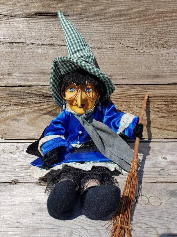 Bewitched Vintage German Folk Art Witch Handmade Kitchen Witch