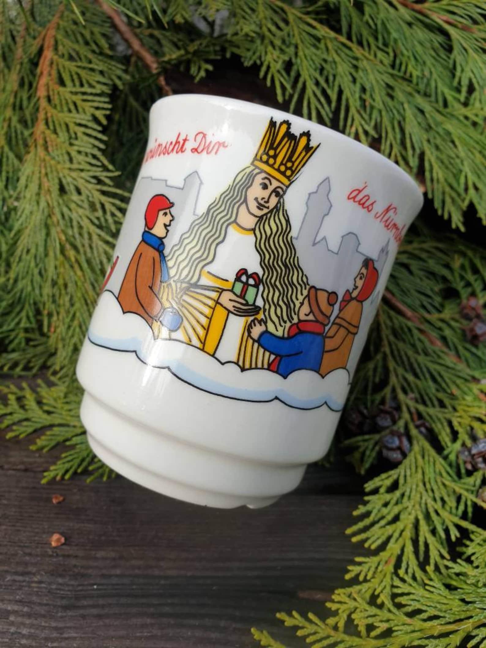 Angel Above Vintage German Mug Nuremberg Christmas Market