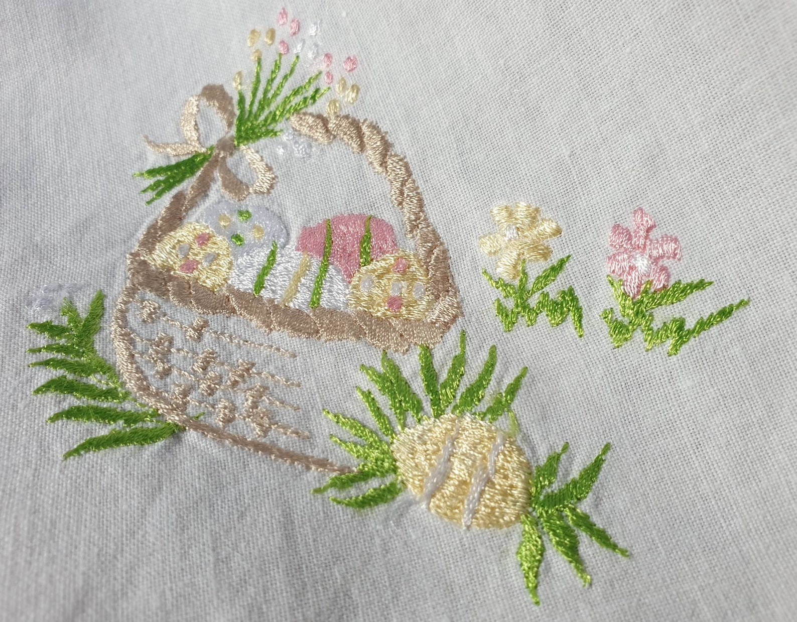 Basket Full of Easter Joy Vintage German Easter Table Square Spring Easter Decor Easter Basket Pastels German Easter Decor Shipping Inc