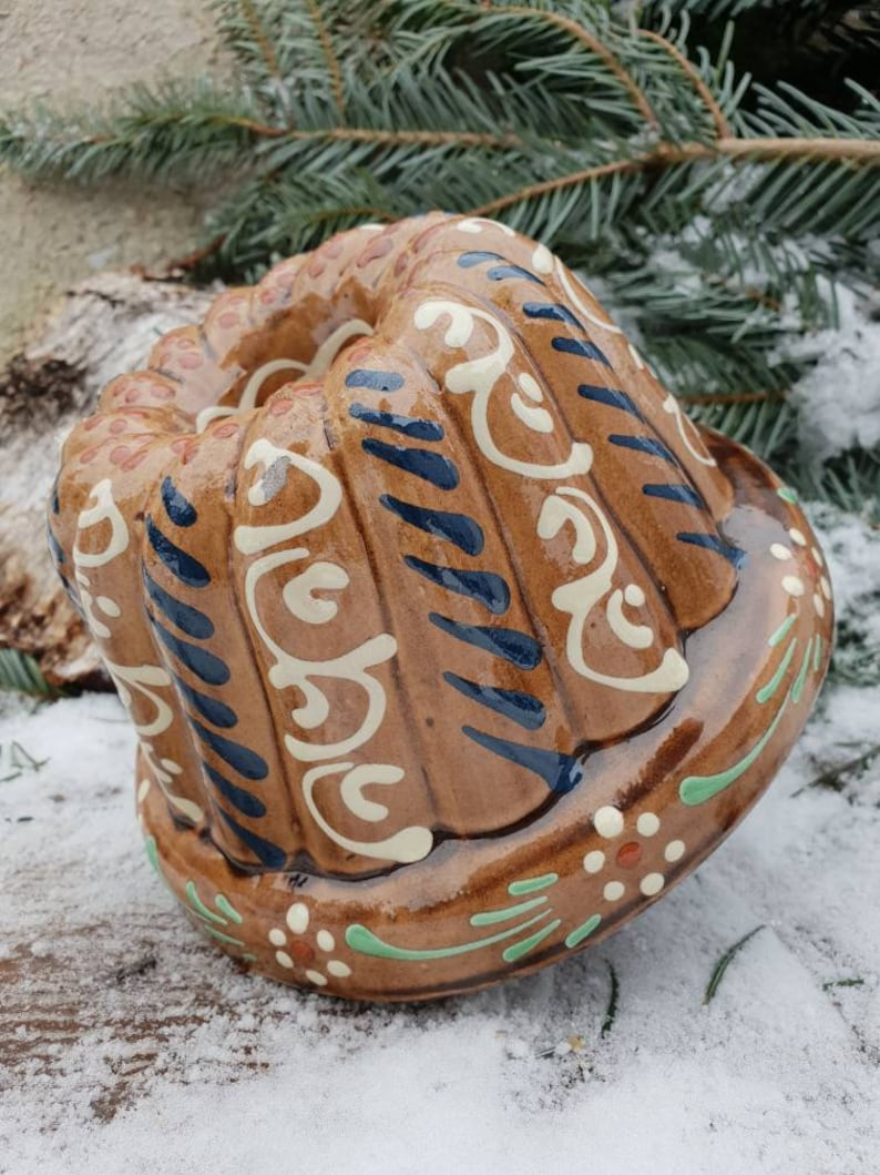 Let Them Eat Cake Vintage French German Kugelhopf Mold Terracotta Traditional Holiday Cake Form Bread  Pudding Jello Bundt Mold Wall Decor