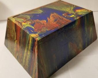 Rainbow Pyramid Keepsake Stash Box