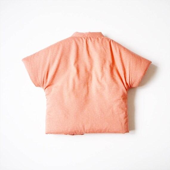 japanese vest Baby Hanten,Kimono jacket KURI fabric by Atelier Brunette
