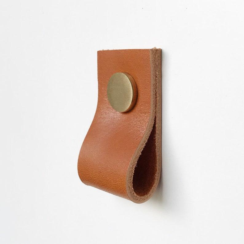 Leather drawer pulls  Leather pulls  Dresser handles