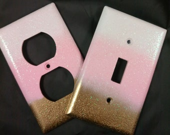 Pink And Gold Room Decor Ideas from i.etsystatic.com