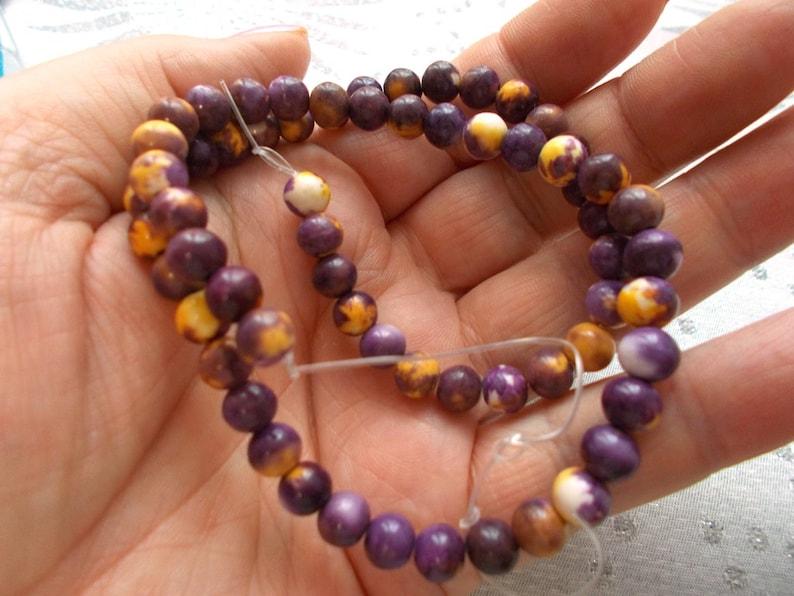 purple jasper beads purple emperor aqua terra in batch of 10