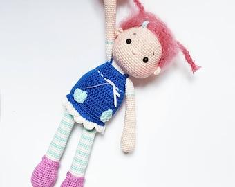 "Amigurumi Crochet Doll Pattern ""Merle"" PDF"