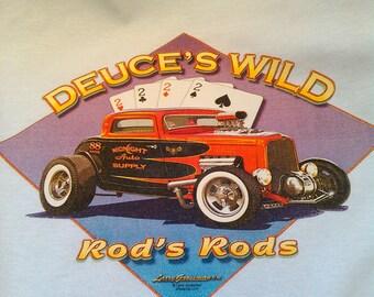 Dueces Wild T-shirt-Street Rod Shirt-Hot Rod shirt-Rat Rod Shirt-Speed Shop Shirt