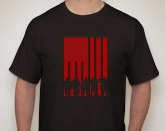 Veterans Flag T-shirt- Military Flag T-shirt-Solider Flag T-shirt