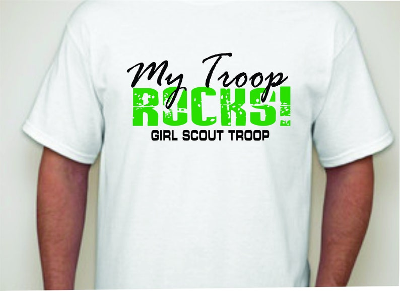 d22b18890 My Troop Rocks-Girl Scout T-shirt-Girl Sxout Apparel | Etsy