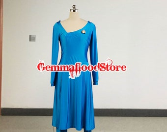 Star Deanna Troi Party Female Adult Dress Cosplay Costume Star Trek Cosplay Costume