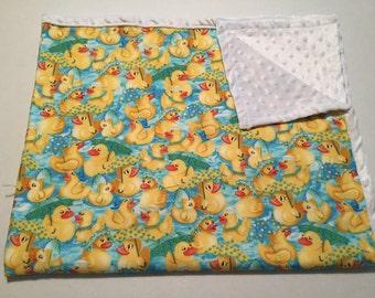 Rubber ducky baby blanket