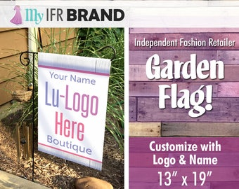 IFR LLR Garden Flag - White Wood