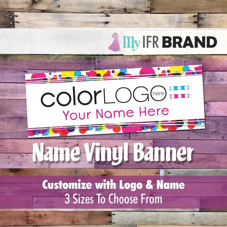 Color Consultant Name Vinyl Banner - Translucent Circles