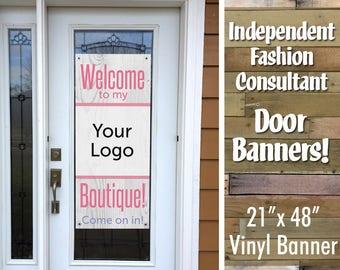 IFR LLR Door Vinyl Banner - White Wood