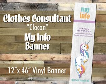 "IFR LLR White Wood Customizable ""My Info"" Banner - ww05"