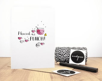 Pleased as Punch Greeting Card