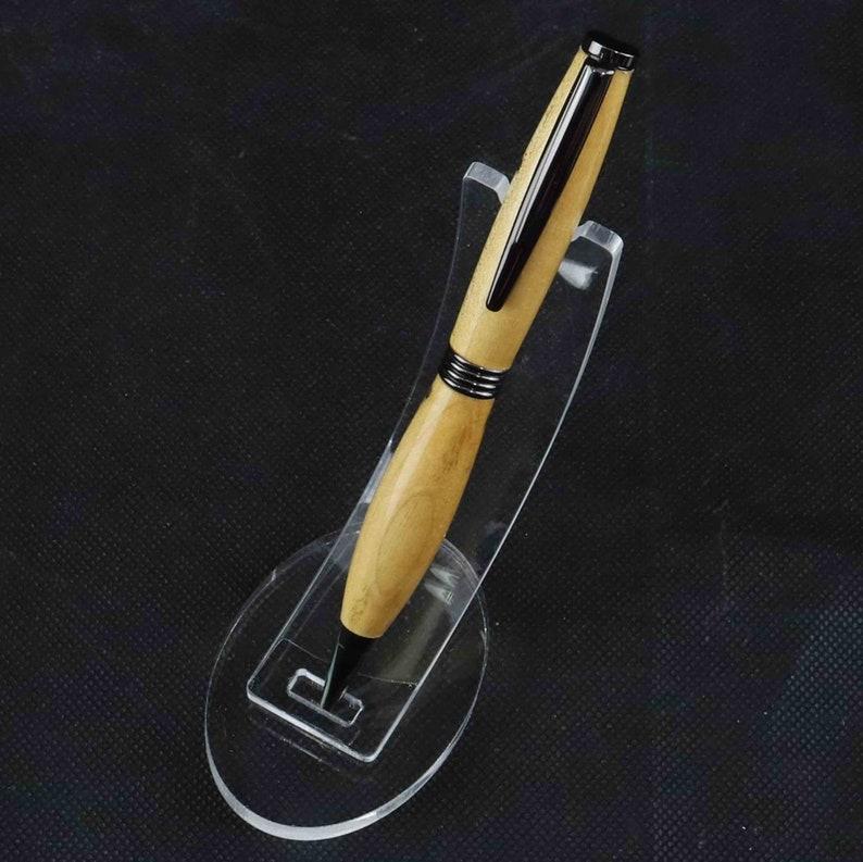 Handcrafted Hophornbeam Wood Ball Point Pen
