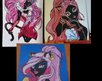 3x Catty aus Monster high Handmade