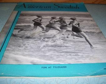 Vintage American Swedish Monthly Magazine July 1937.