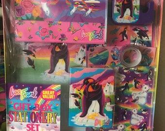 Vintage Lisa Frank Gift Box Stationery Set Roary